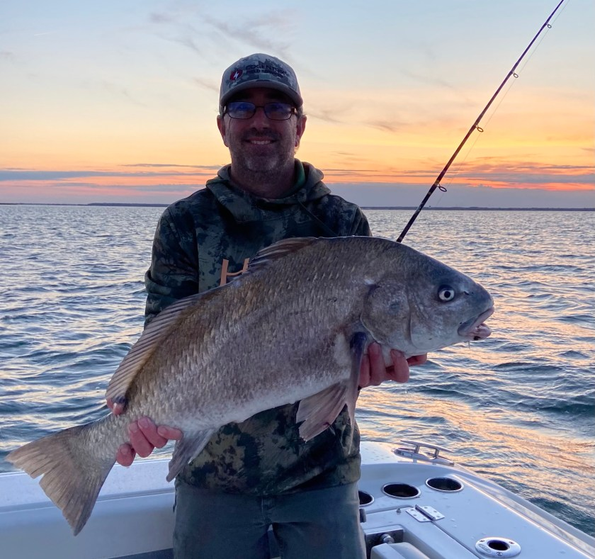 Brian Leary caught this black drum fishing the bay with clam.