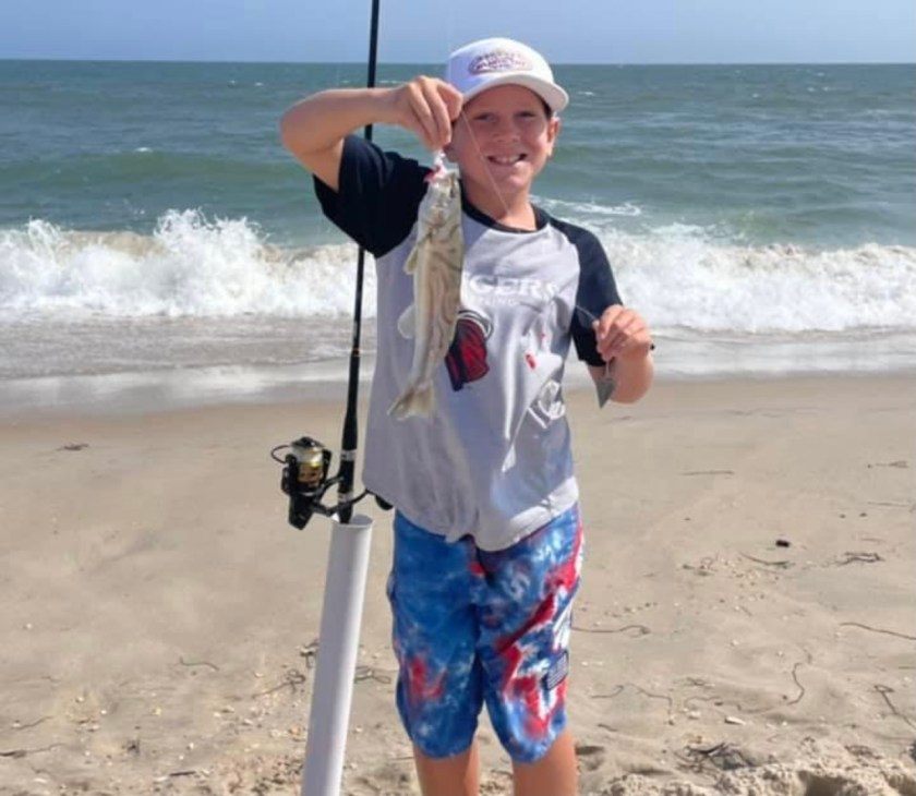 Theo Door posted this photo of his son with a recent kingfish catch.