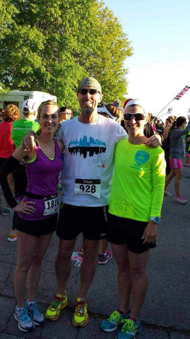 Sarah Wilson, Don Ledford and Stacey Ellerman, pre-race.
