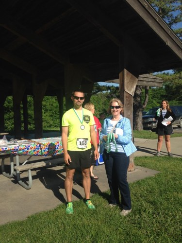 The streak continues: Russell Wenz won his third 5K in a row, the overall first place finisher. Congratulations!