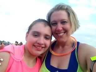 Sarah and Jordeah Grosko at the Glow Run