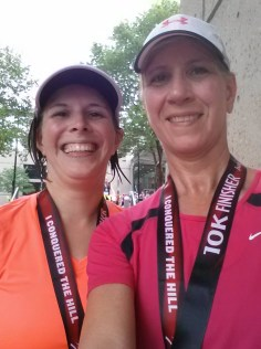 Linda and Rachel at the Hospital Hill 10K