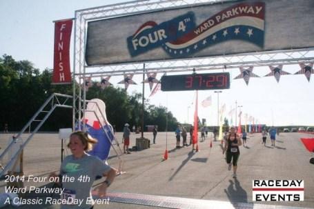 Sarah Grosko crosses the finish line