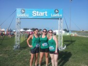 """joined the """"Girls of Anytime Fitness"""" (Cassandra Davis and Carissa Marie) at the LoziLu Women's Mud Run"""