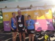 Linda Pasalich (1st in her age group), Jody Pasalich (2nd in his age group) and Stephanie Shellenberger (3rd in her age group).