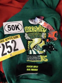 Nice swag for 50K finishers