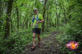 Don Ledford completed the Rock On Lake Perry 50K Trail Run in about 6 1/2 hours.