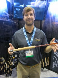 Fenwick Rod Engineer Greg Allison display the new, vintage combo