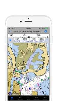 iNavX Screenshot Course-Up Display HR PRG