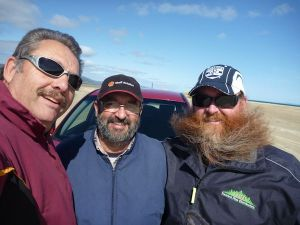 Three fishermen fixing the world, one tragic issue at a time.