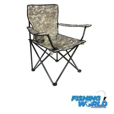 Nevis Camou horgász szék pohártartóval