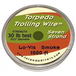 Torpedo Trolling Wire 7 Strand 30 lb Test 1000 ft