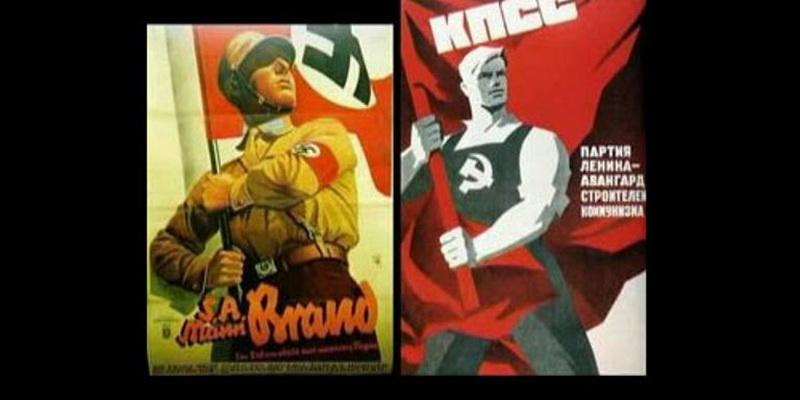 Схожие плакаты СССР и Третьего Рейха (17 фото)