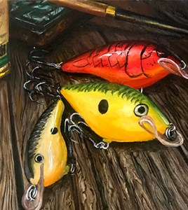 Mike Iaconelli, shad rap, custom ink, oil painting