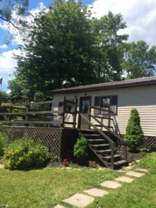 Oneida Lake Cottages with lake view from deck