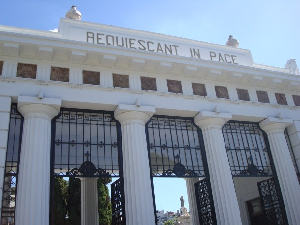 Entrance to Recoleta Cemetery