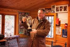Mark Cockburn looking at the Redford Trophy River Tay