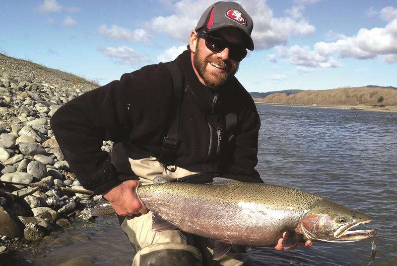 Fish Sniffer Field Editor Mike McNeilly used a spoon to tempt this big male steelhead while fishing the Eel River.