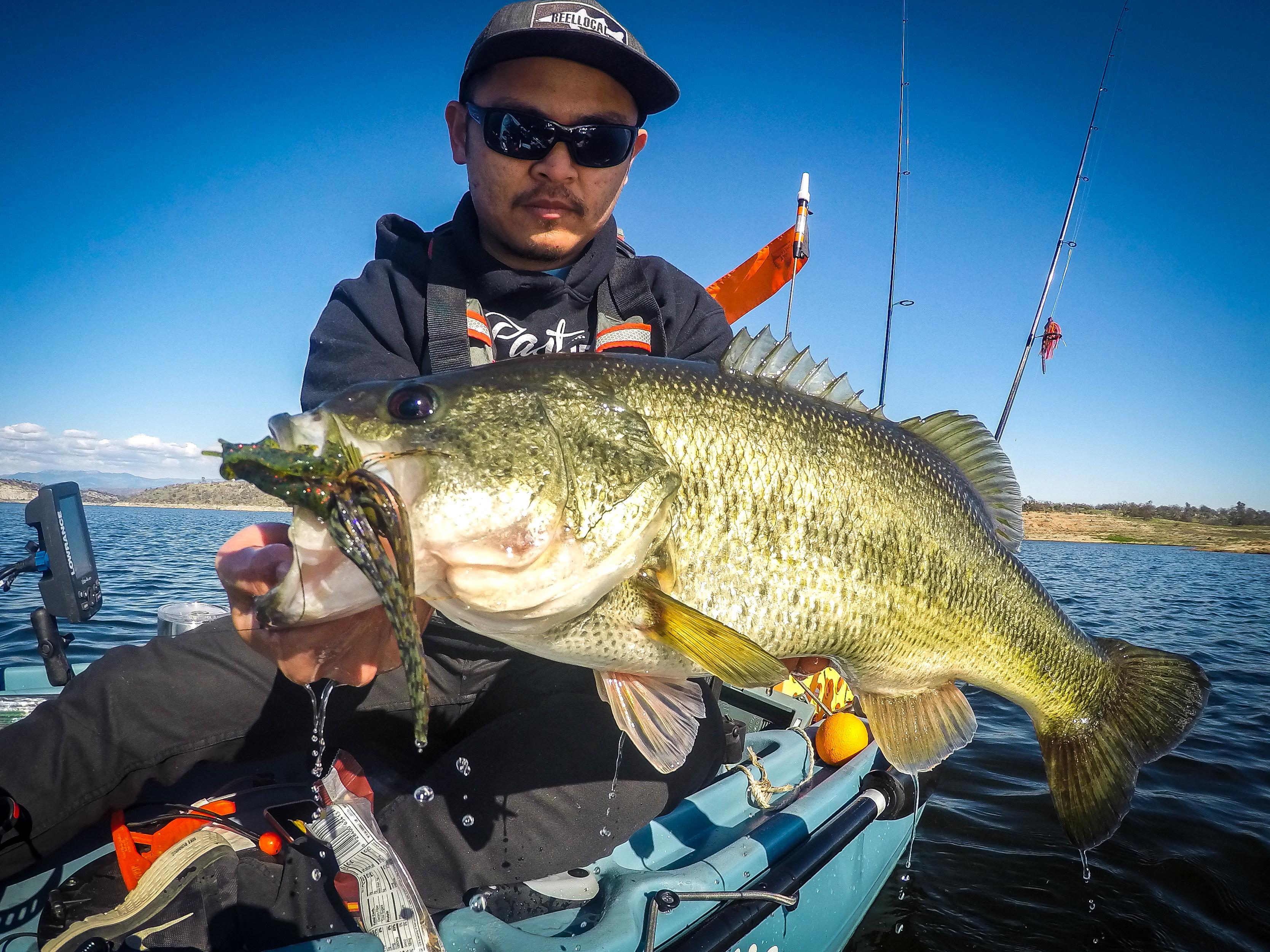 Kayak City Fishing Team's Newest Member Finds Big Bass Deep