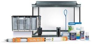 marina style 20 deluxe glass aquarium kit m