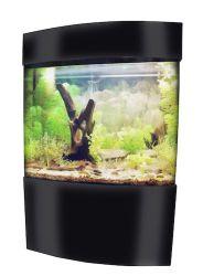 vepotek full acrylic rectangle bow front and back aquarium kit