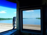 Crossing the Mississippi River into Missouri.