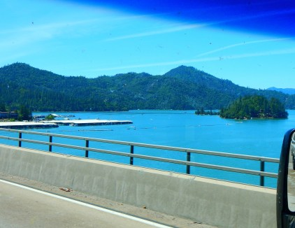Now this is beautiful! Lake Shasta is full to the brim!