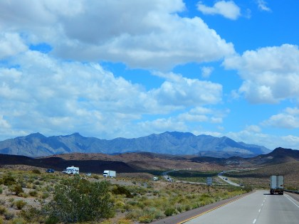 It was a very scenic desert drive virtually all day long.
