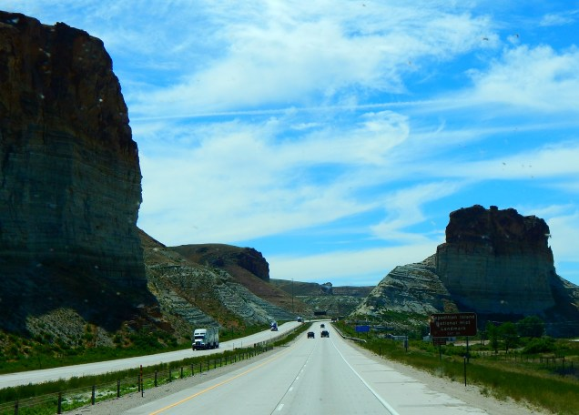 More spectacular formations along I-80.