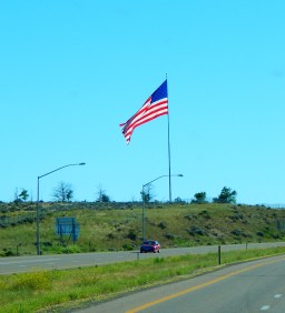 Elko, Nevada flies Old Glory proudly.