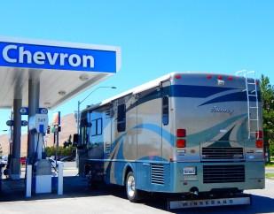 Chevron had the best price around! Chevron?! That's pretty unusual.