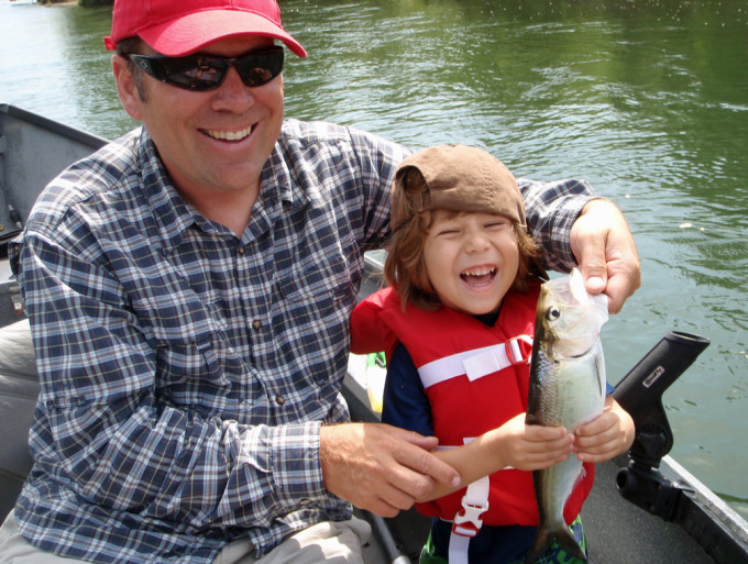 Because of their abundance and willingness to bite, shad are a great kids fish.