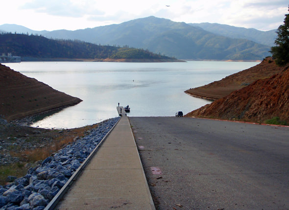 One afternoon, we jumped over to Lake Shasta, which could still use some water...