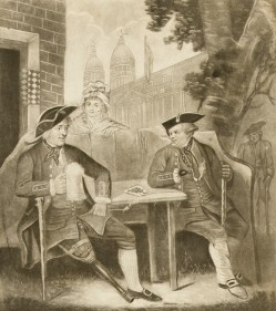See the 3 'fly' buttons visible in the crotch of the veteran at left, in James Whittle & Richard Holmes Laurie (publishers), 'The Greenwich Pensioner', 1794, National Maritime Museum, UK, #PAH3324.