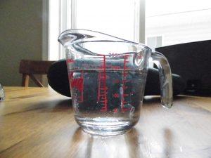 Apparato sperimentale a a 40 min dall'aggiunta del ghiaccio