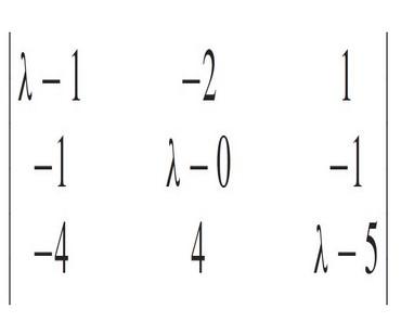 Autovalores y autovectores de una matriz 4