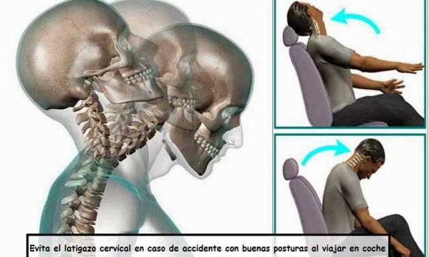 Evita el latigazo cervical en caso de accidente con buenas posturas al viajar