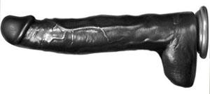 Black 13 inch Dildo