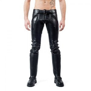 Mister B FXXXER Leather Jeans | All Black sale $450.27 ($562.84)