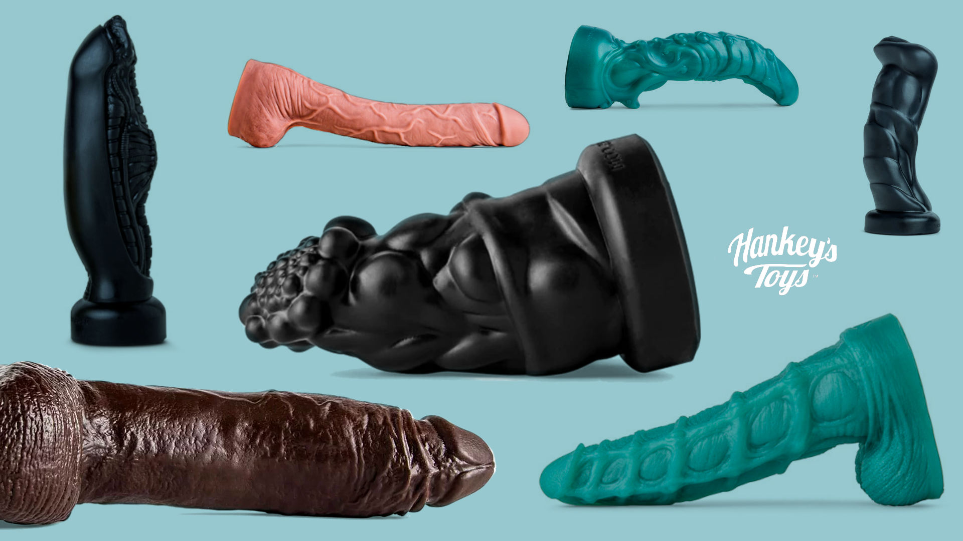 Mr Hankey's toys and dildos.