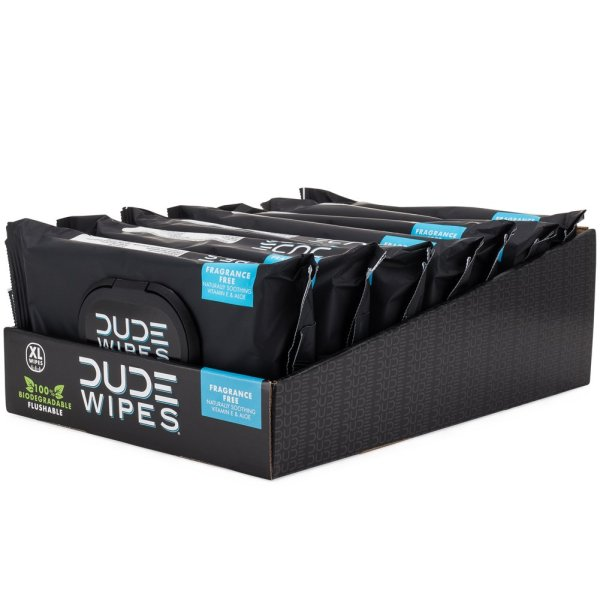 Dude Wipes Flushable Wipes Dispenser (6 Packs, 48 Wipes Each),