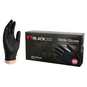 X3 Industrial Black Nitrile Gloves - 3 mil, Latex Free, Powder Free, Textured, Disposable, XLarge, BX3D48100-BX, Box of 200