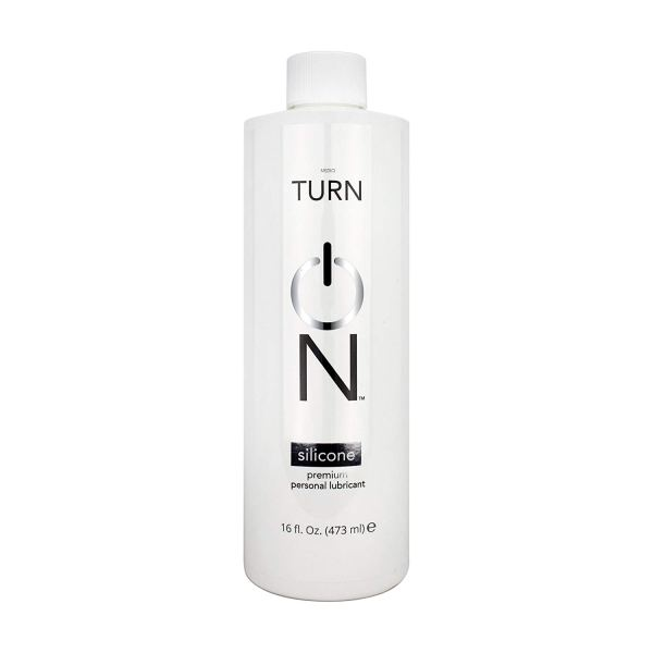 Turn On Personal Silicone Based Lubricant, 16 Ounce Bottle for Smooth Skin, Easy Clean-Up, and No Sticky Mess