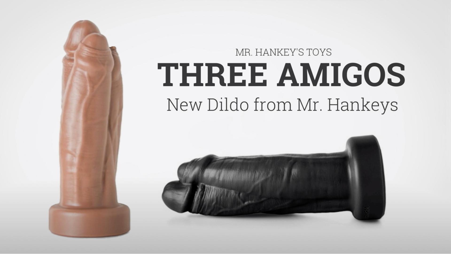 New Mr. Hankey's Toys Three Amigos dildo – Get three for one with the Three Amigos!