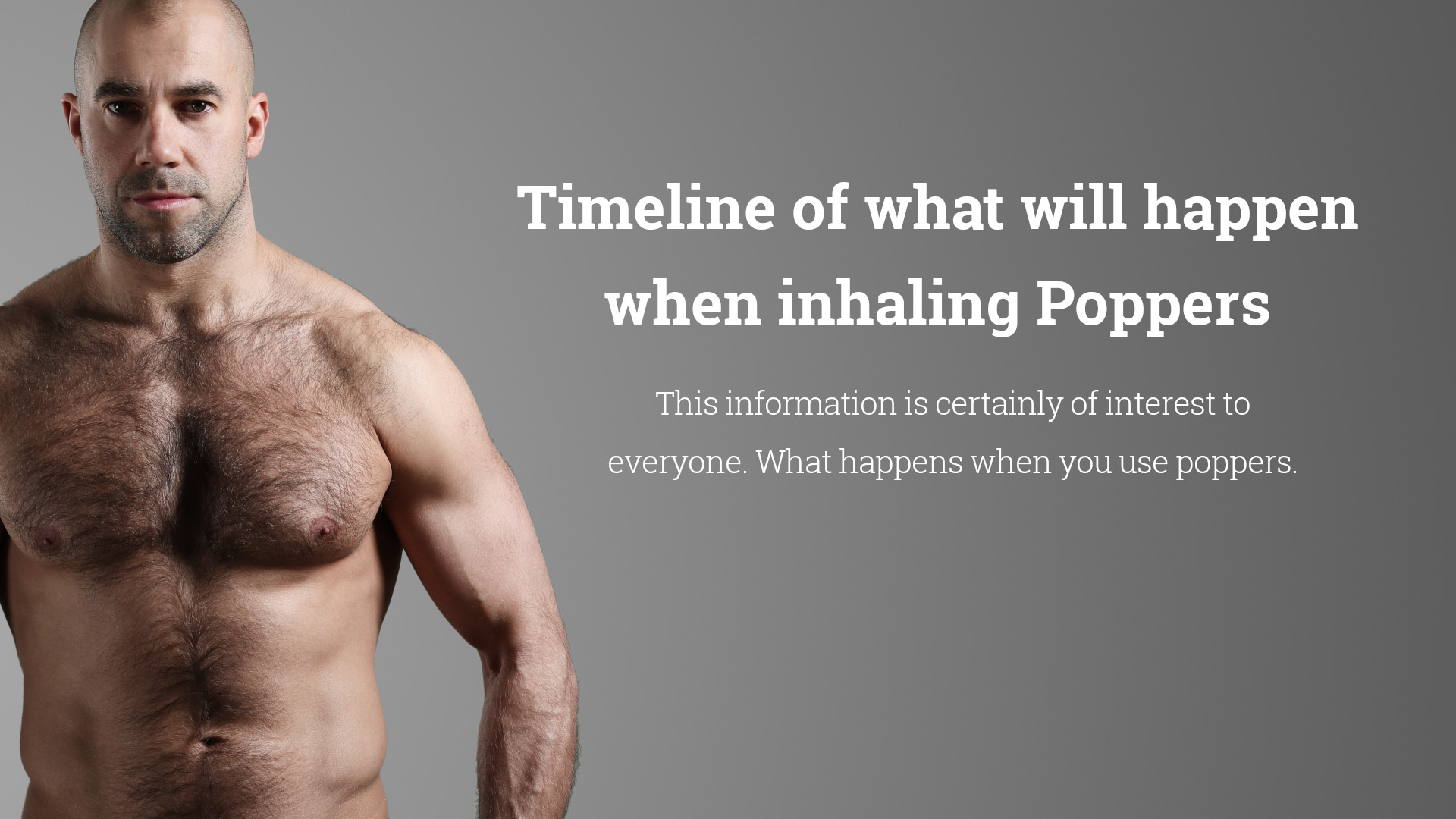 Timeline of what will happen when inhaling Poppers