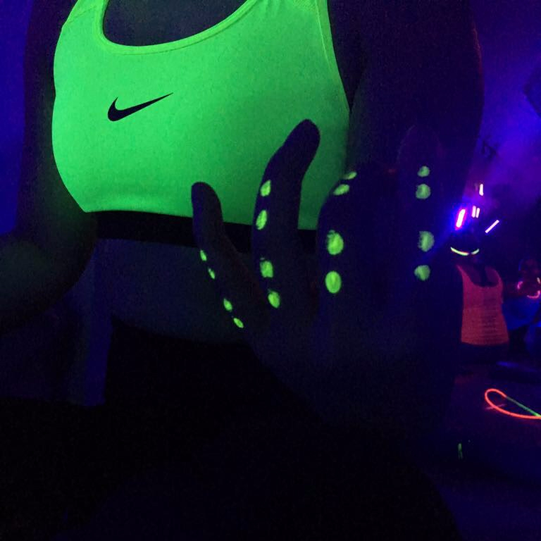 When you're glow paint matches your bra #madeit