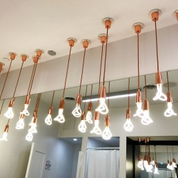 Rose gold industrial lighting