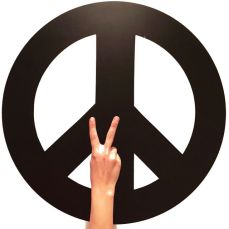 Peace and yoga, baby
