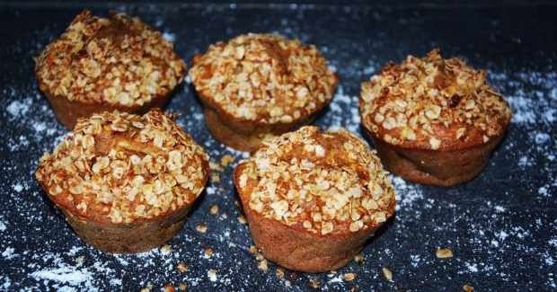 MUFFINS HEALTHY POMME CANNELLE 2