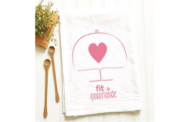 Torchon coeur Fit & Gourmande
